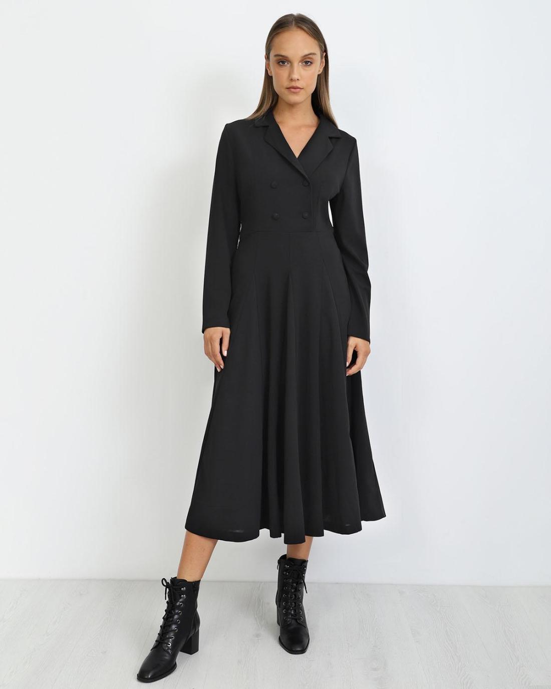 Μίντι φόρεμα μαύρο