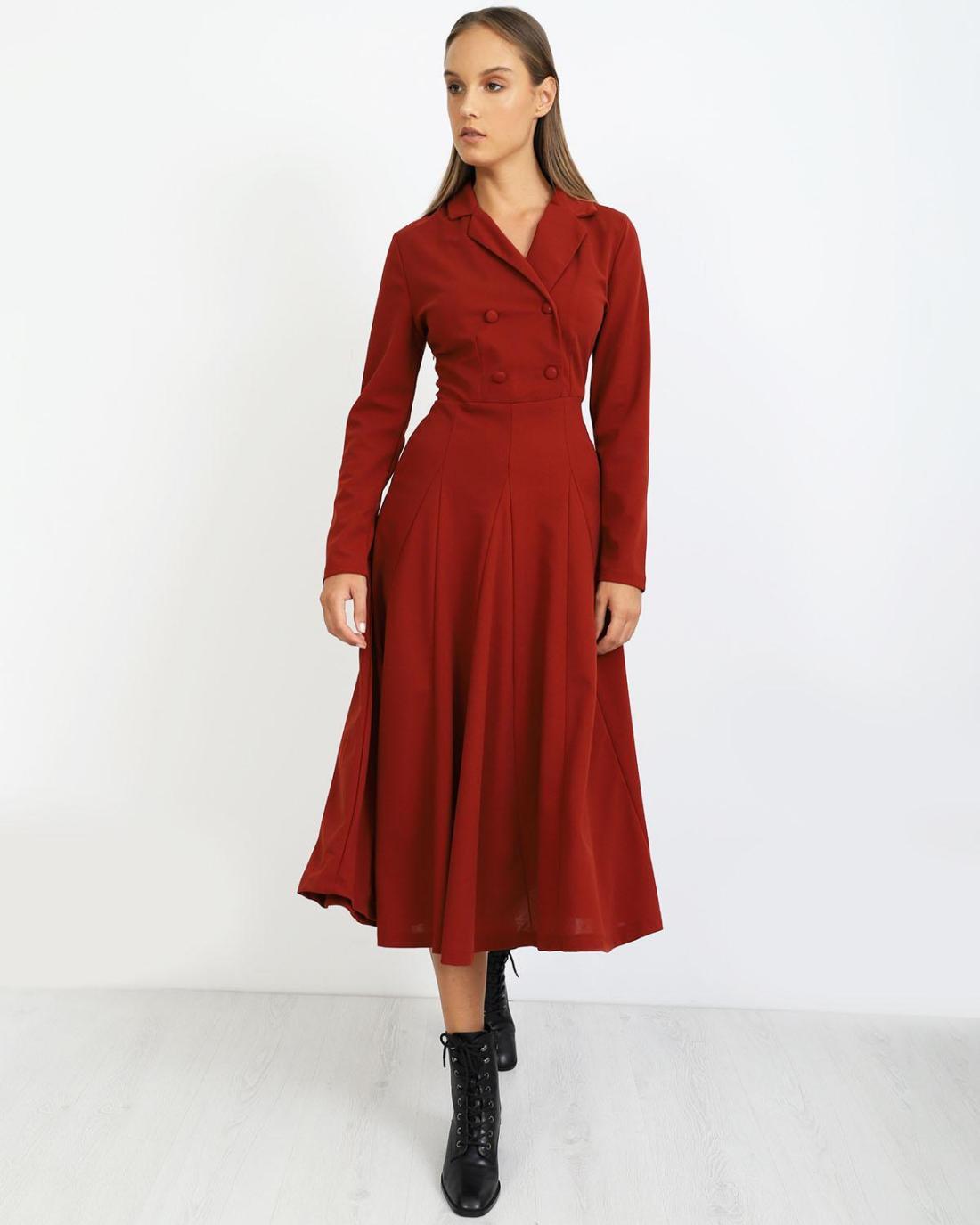 Μίντι φόρεμα κόκκινο