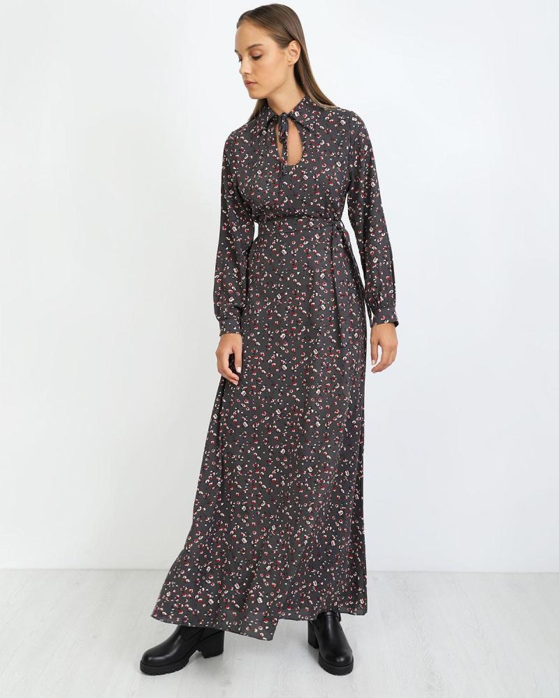 Μάξι φόρεμα γκρι
