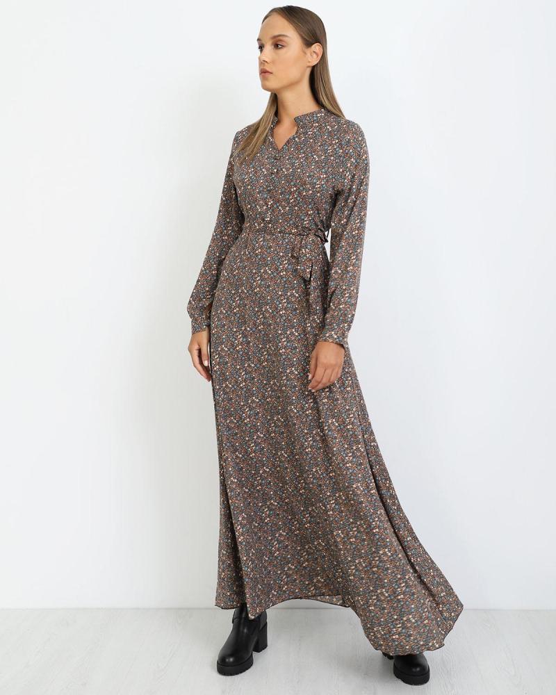 Braun maxi kleid