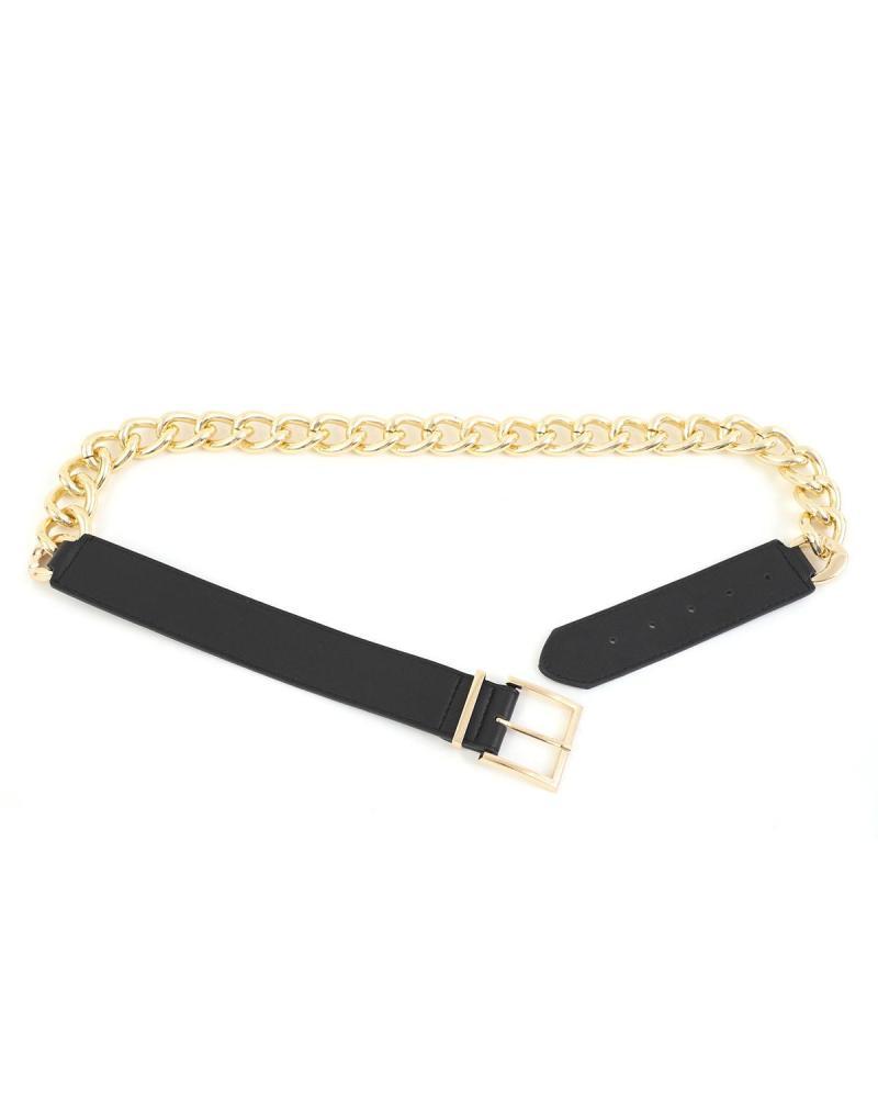 Black/gold belt