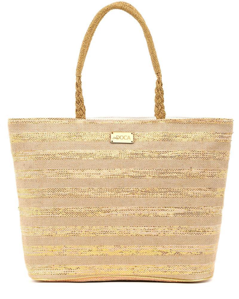 Paper straw pink beach bag