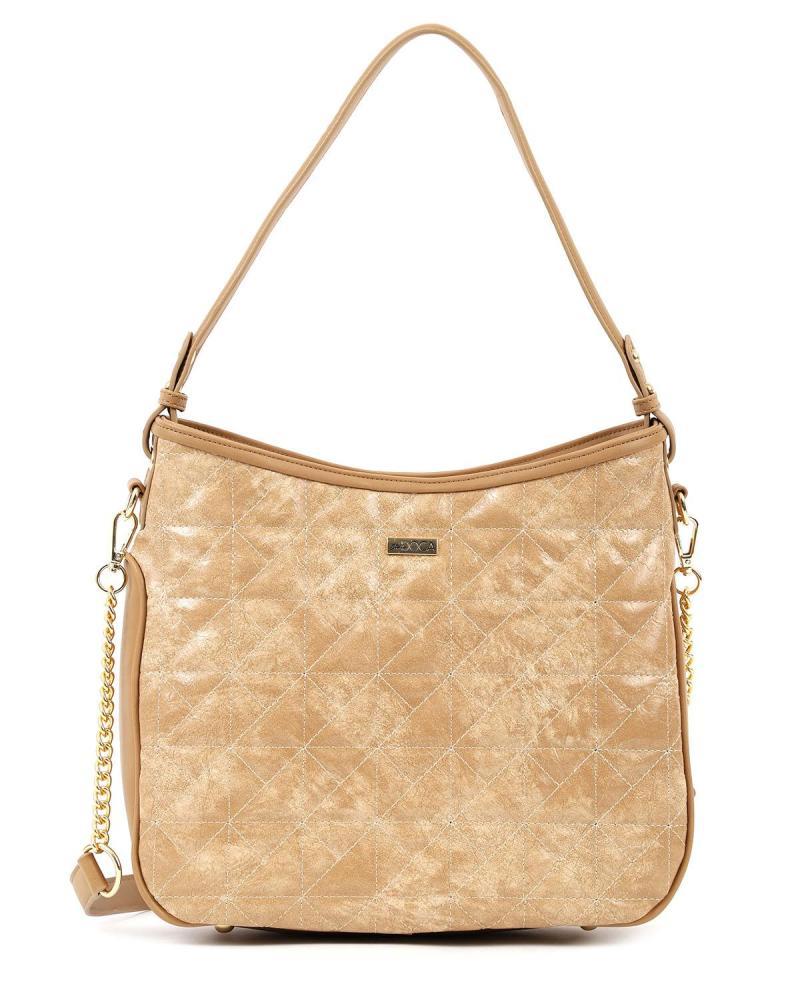 Καθημερινή τσάντα ώμου κάμελ