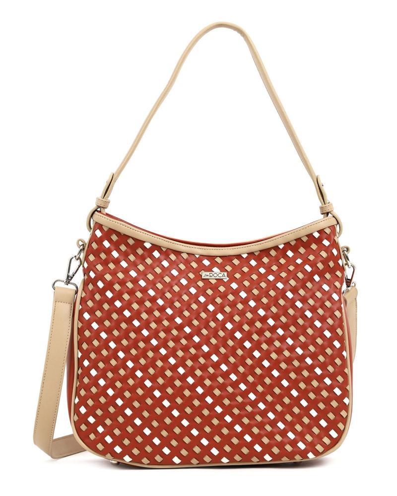 Καθημερινή τσάντα ώμου κόκκινη