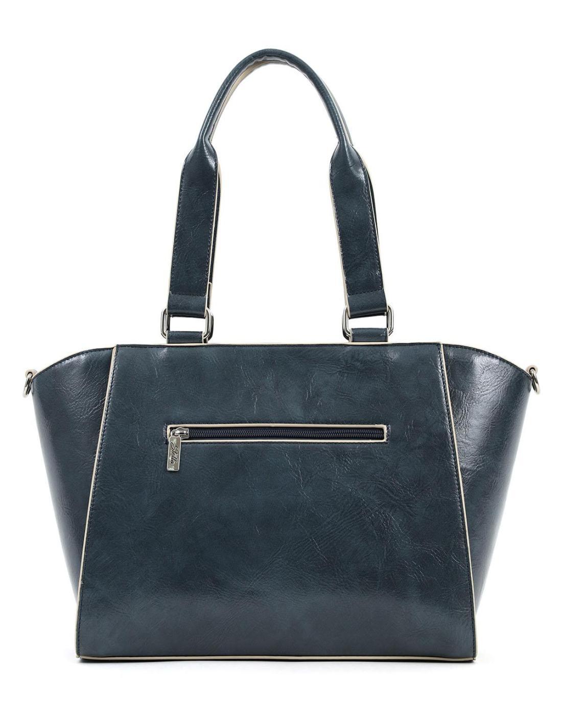 Καθημερινή τσάντα ώμου μπλε