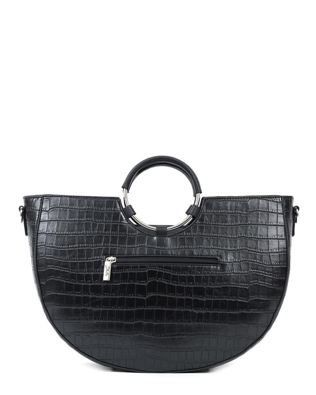 Καθημερινή τσάντα χειρός μαύρη