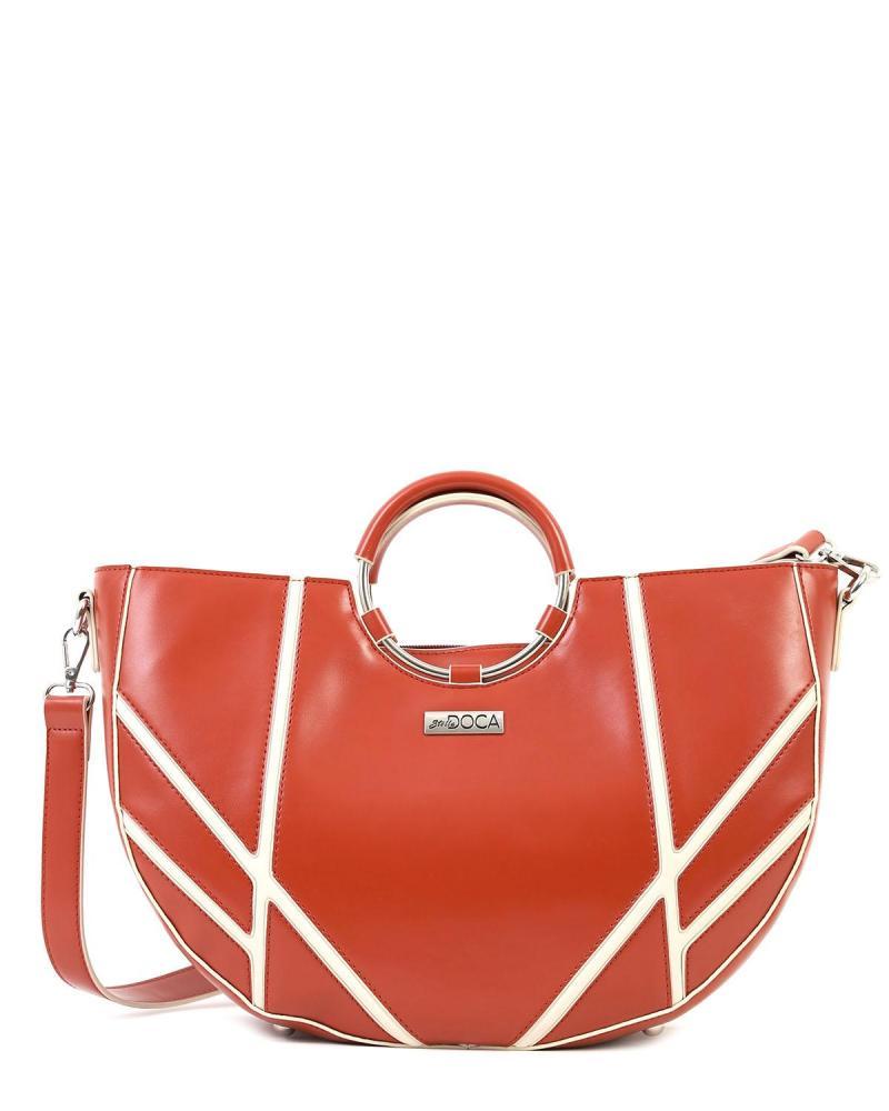 Καθημερινή τσάντα χειρός κόκκινη