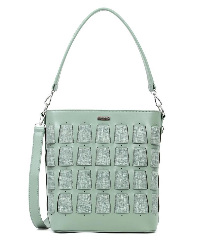 Καθημερινή τσάντα ώμου πράσινο της μέντας