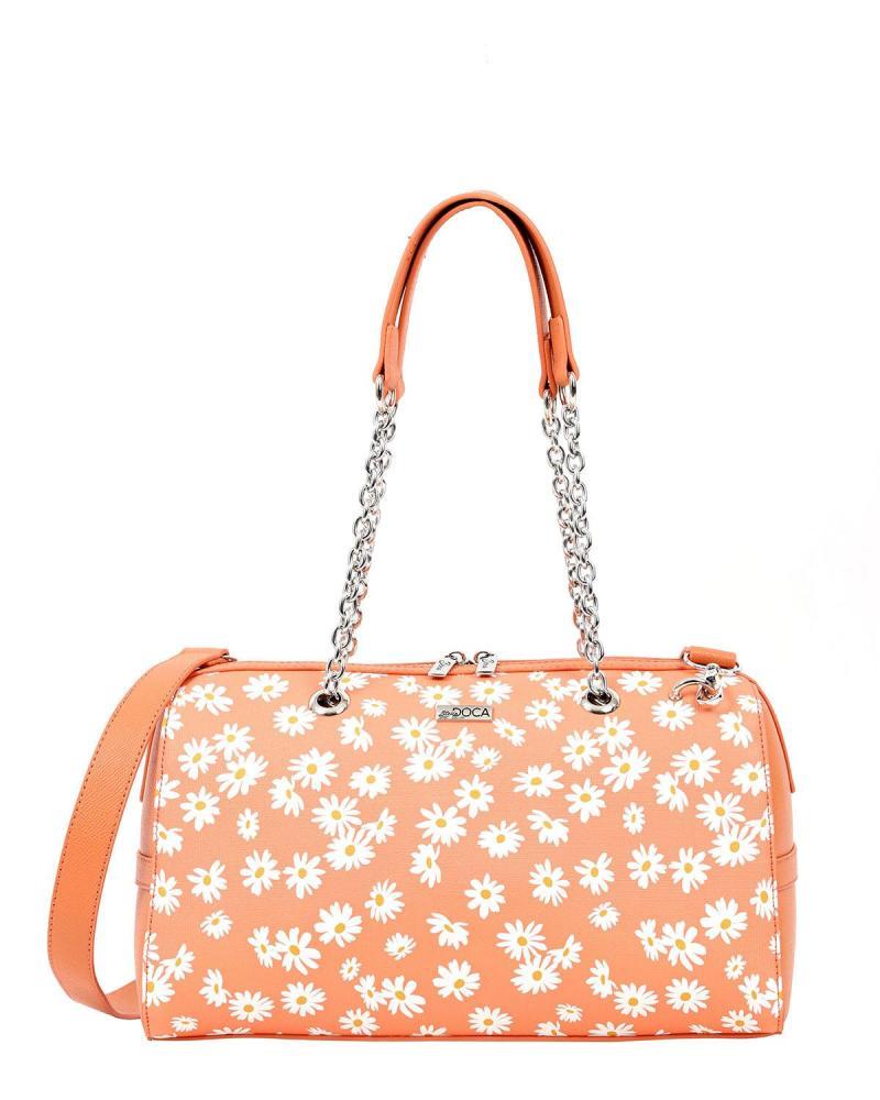 Καθημερινή τσάντα ώμου πορτοκαλί