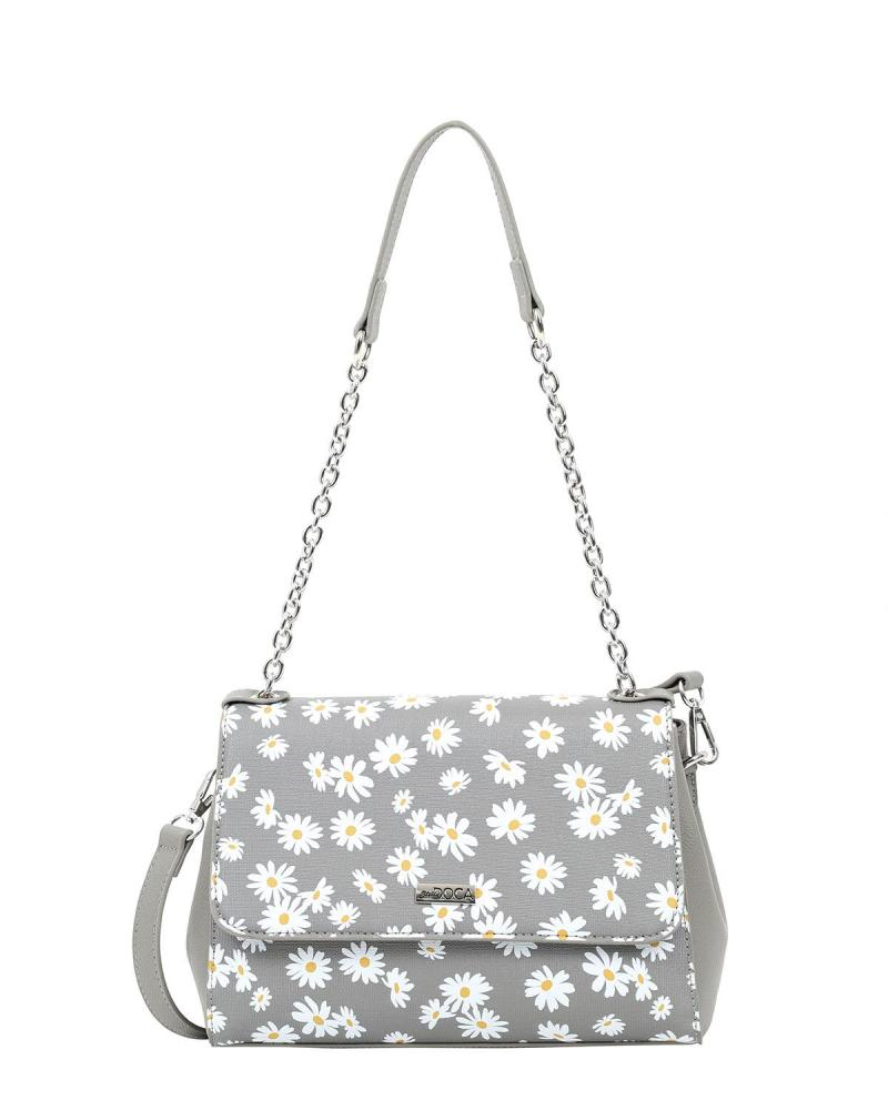 Grey shoulder bag