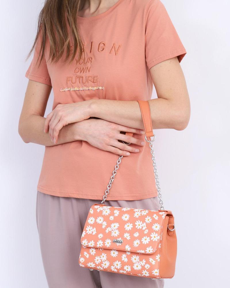 Καθημερινή τσάντα ώμου γκρι