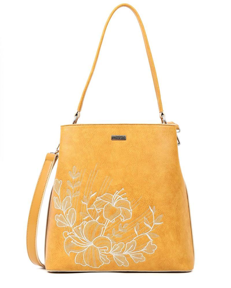 Yellow shoulder bag