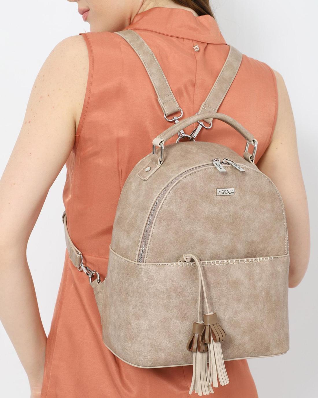 White backpack