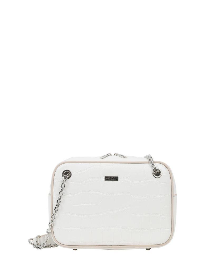Weiße schultertasche
