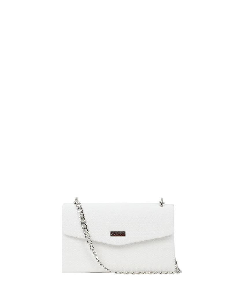 White evening bag