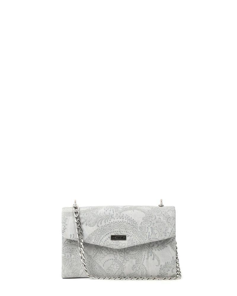 Grey evening bag