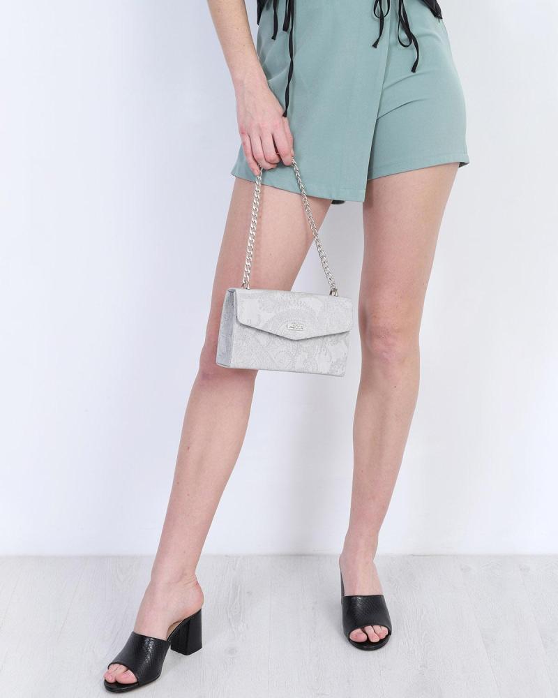 Beige evening bag