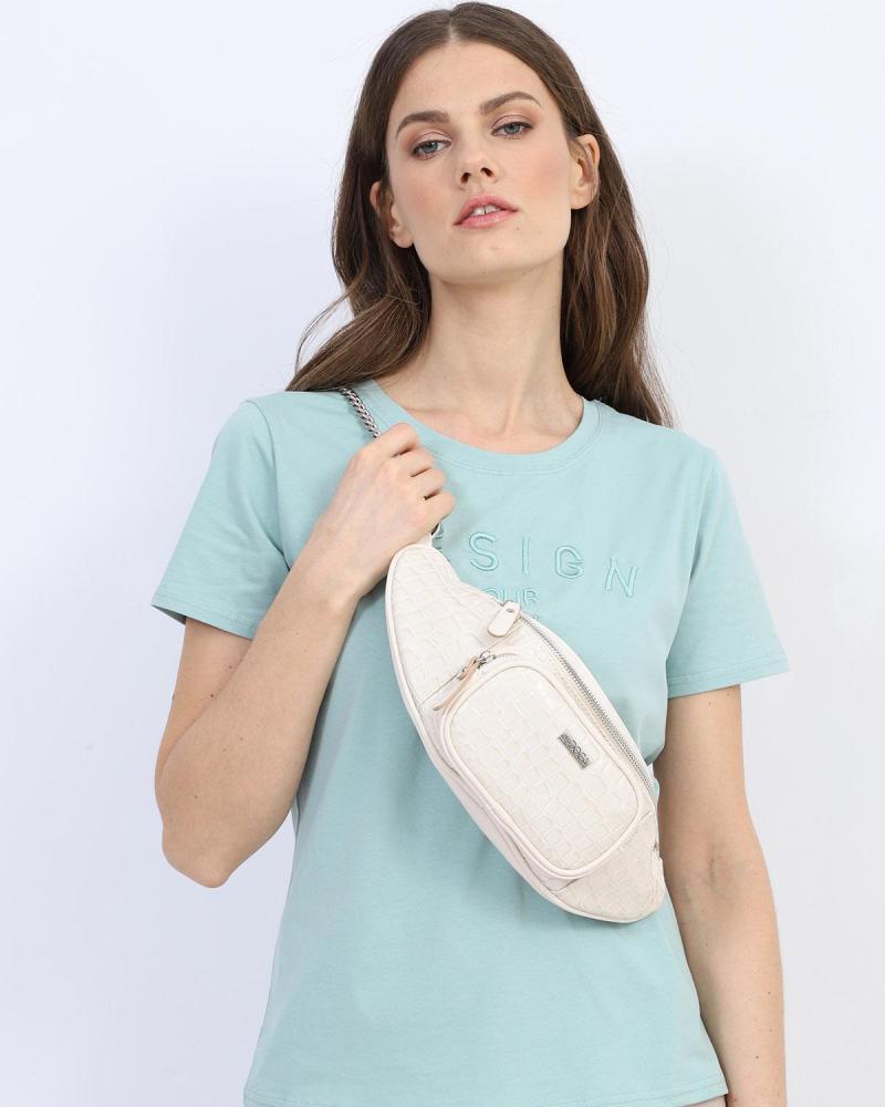 Light blue belt bag