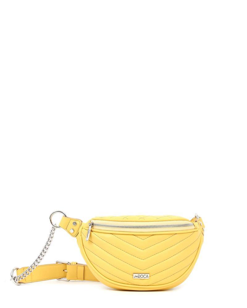 Yellow belt bag