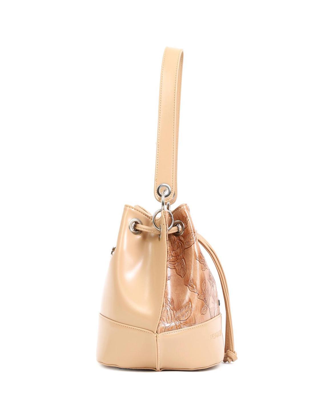 Καθημερινή τσάντα χειρός κάμελ