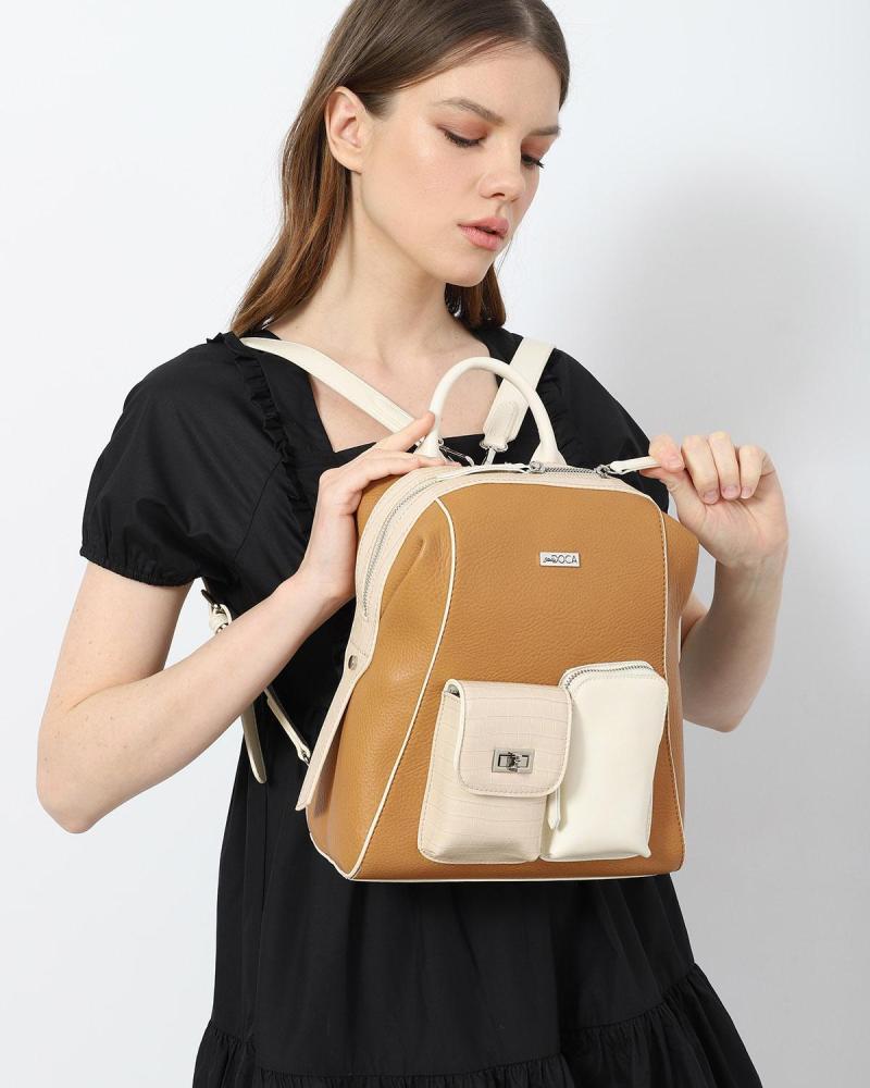 Weiße rucksack