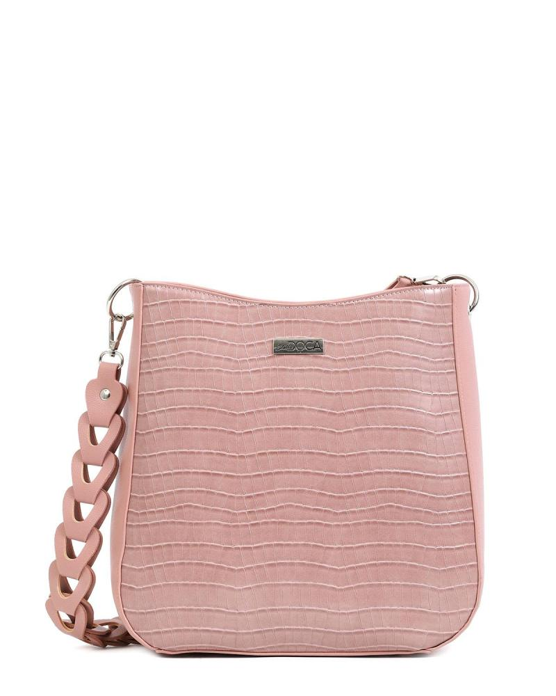 Καθημερινή τσάντα ώμου ροζ