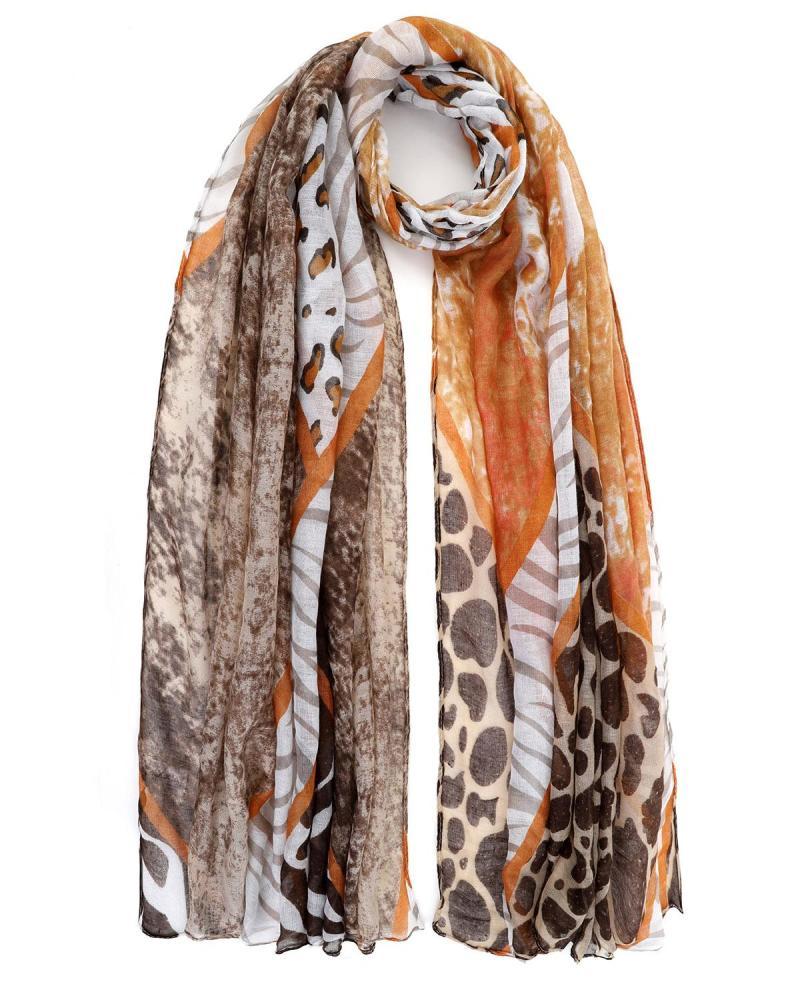 Braun foulard-pareo