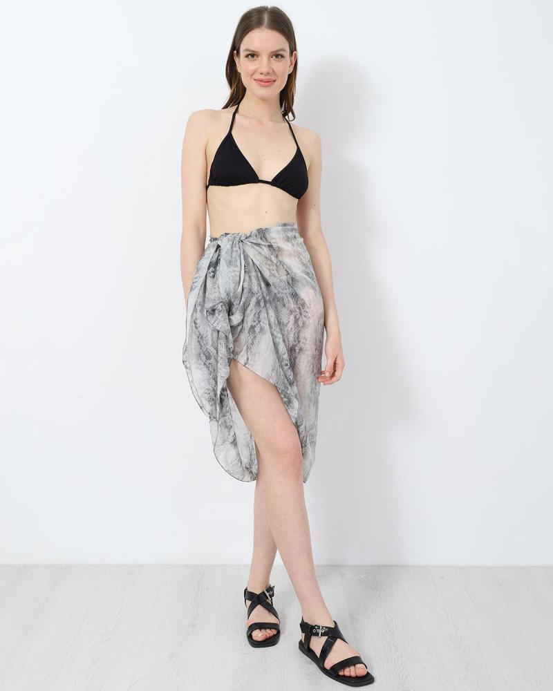 Grey foulard-pareo