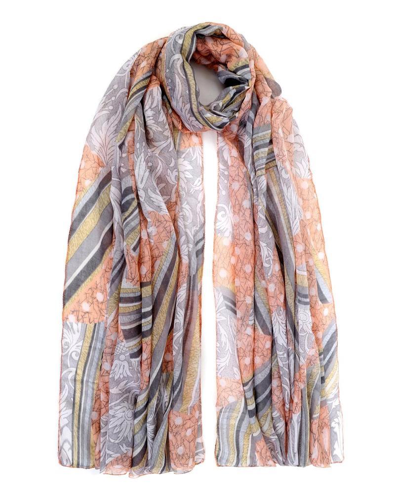 Pink foulard-pareo