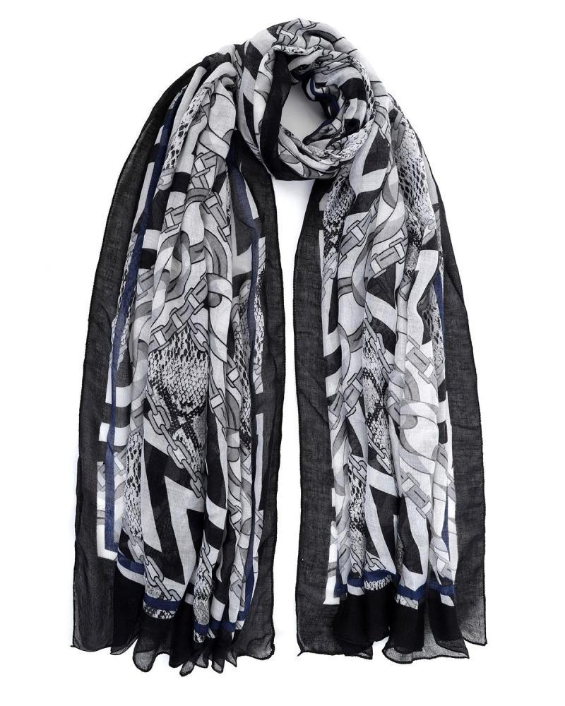 Black foulard-pareo