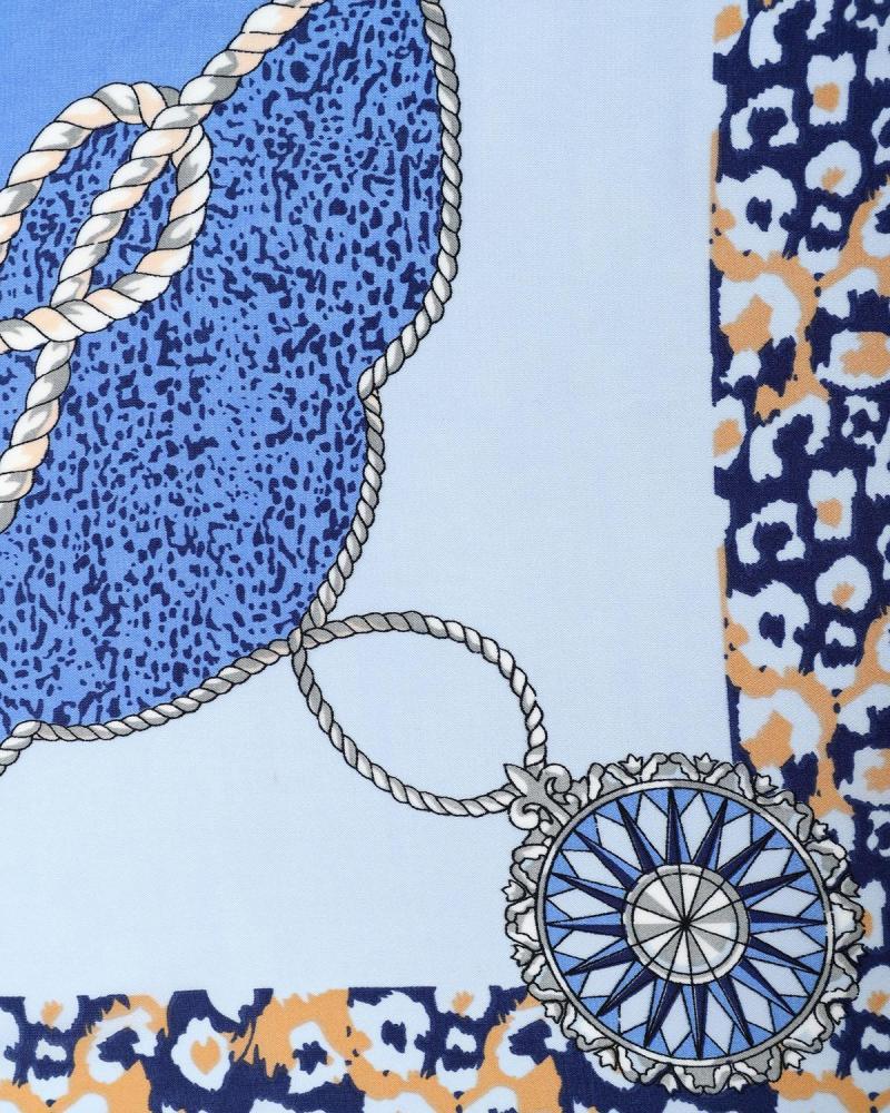 Hellblau foulard