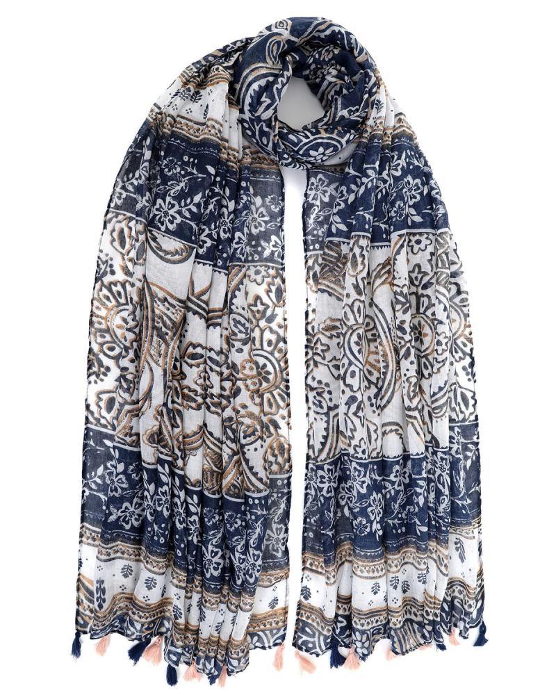 Blue foulard-pareo