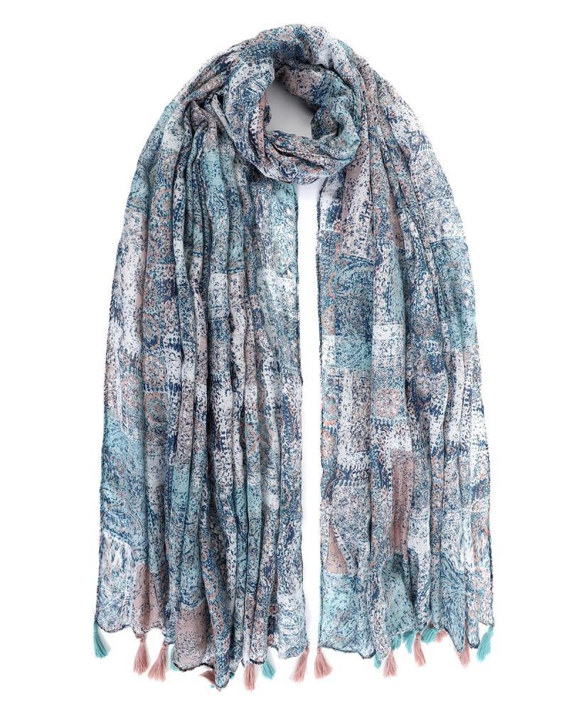 Light blue foulard-pareo
