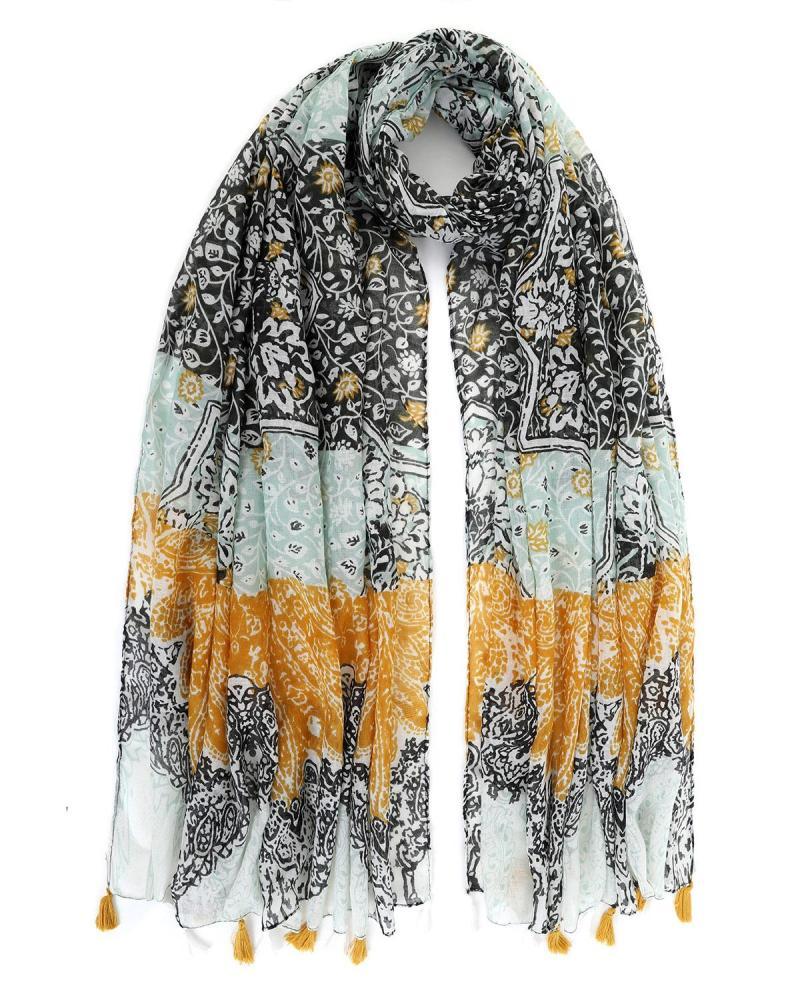 Brown foulard-pareo
