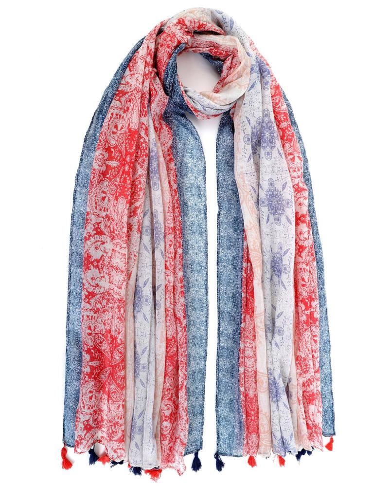 Hellblau foulard-pareo
