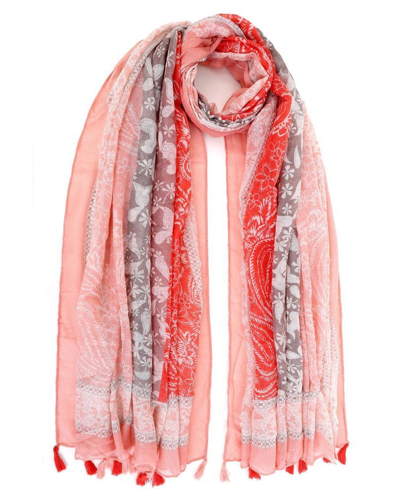 Rosa foulard-pareo