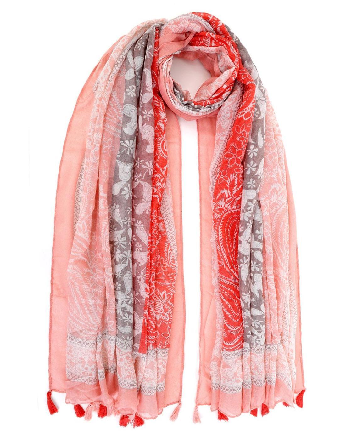 Φουλάρι-παρεό ροζ