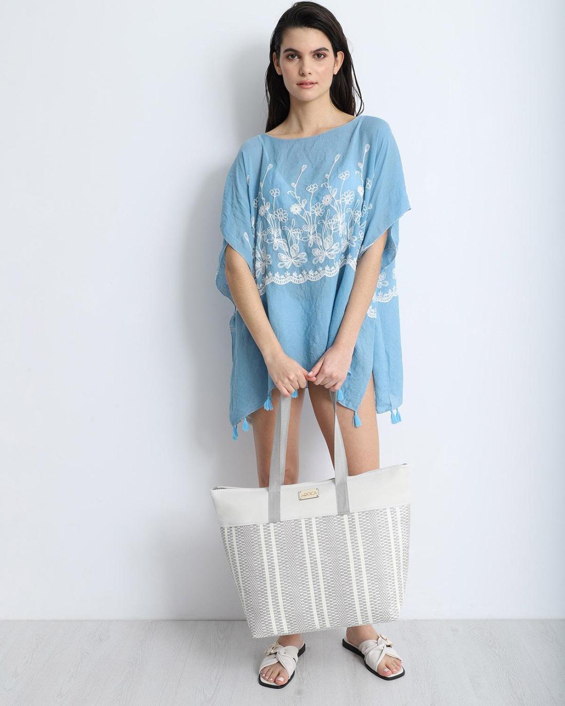 Καφτάνι γαλάζιο