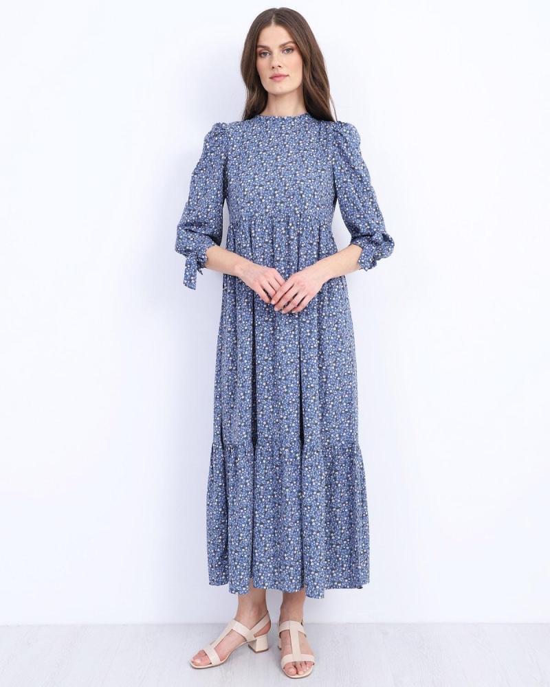 Blau maxi kleid
