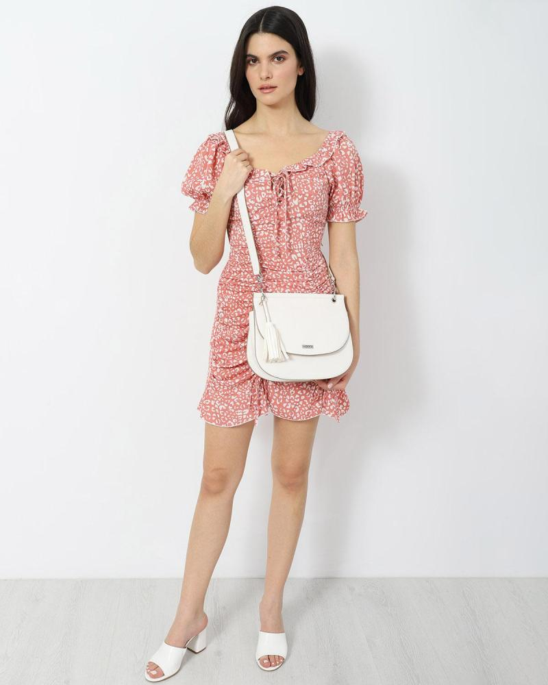 Rosa mini kleid