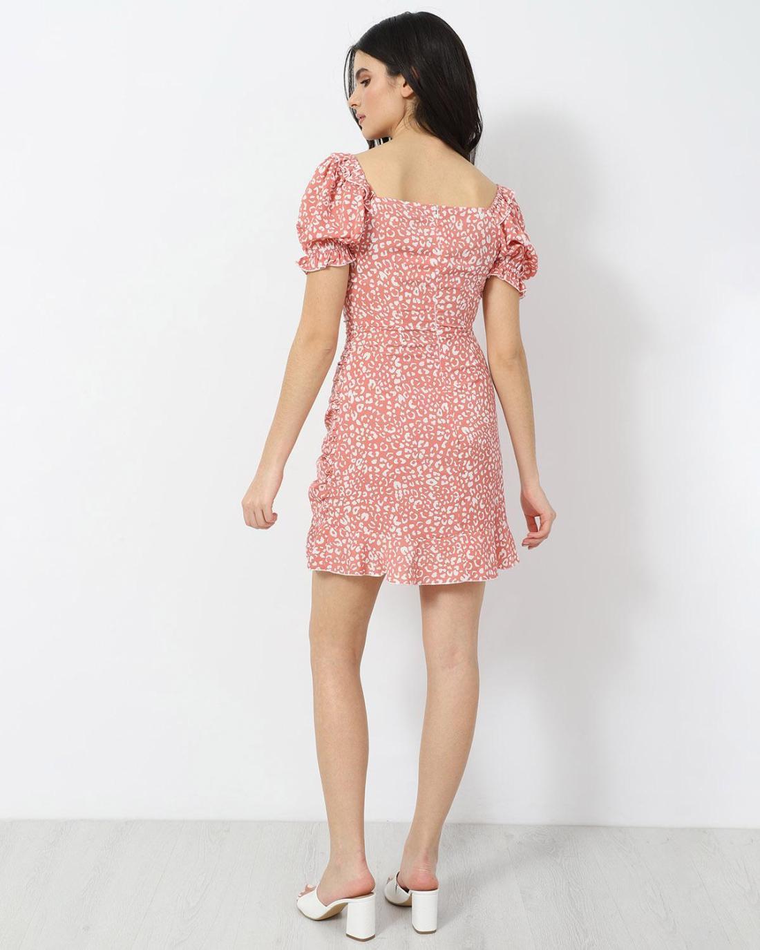 Μίνι φόρεμα ροζ
