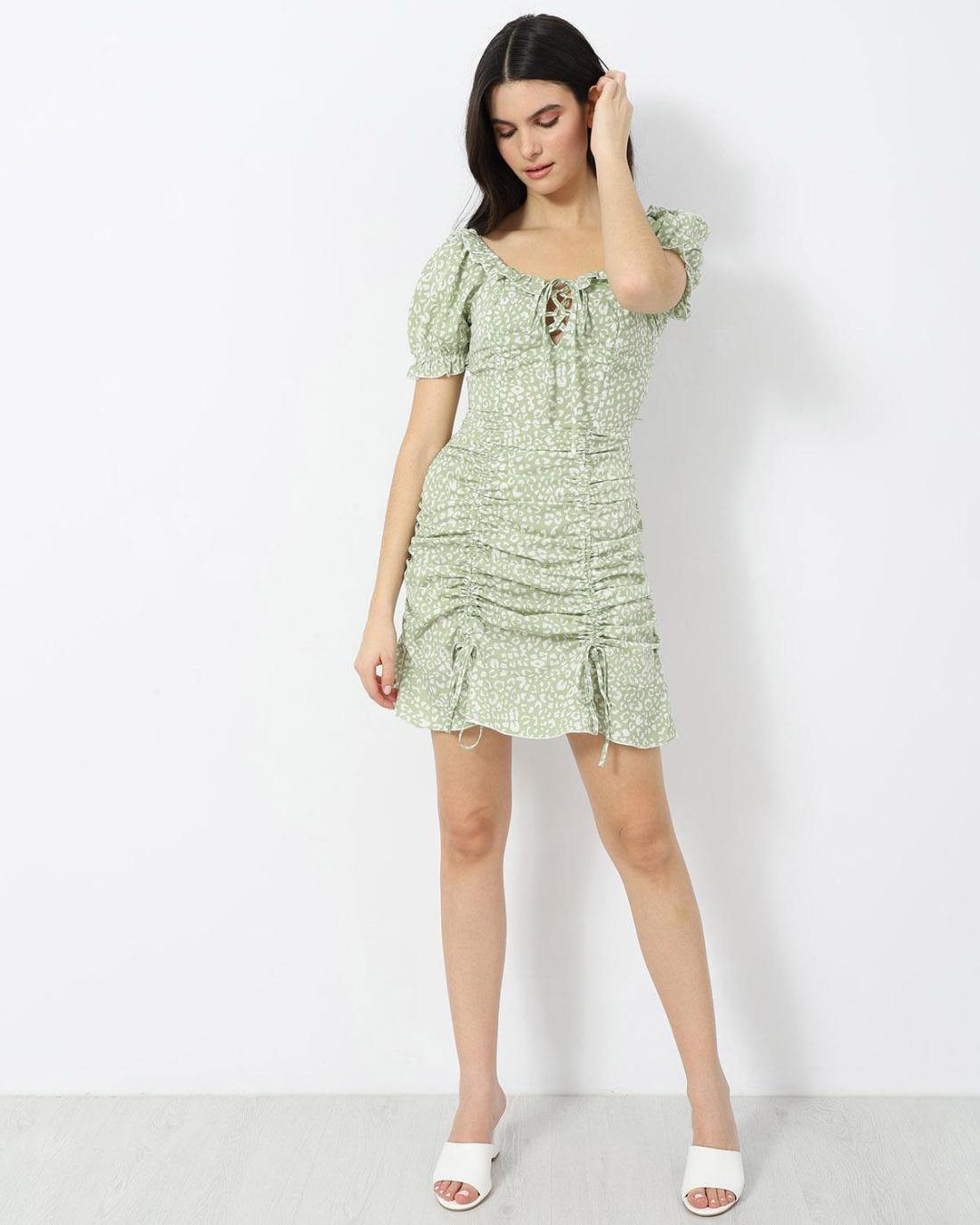 Grün mini kleid