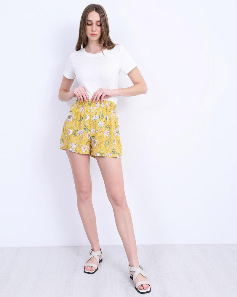 Gelbe kurze hose