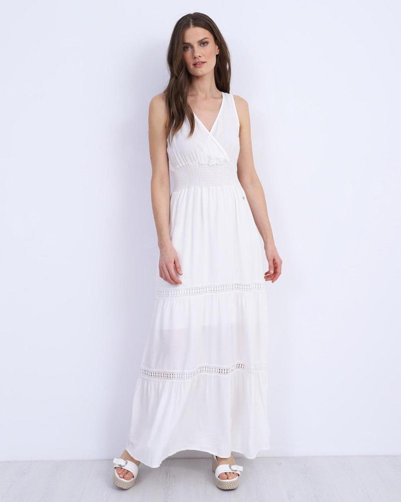 Weiß maxi kleid