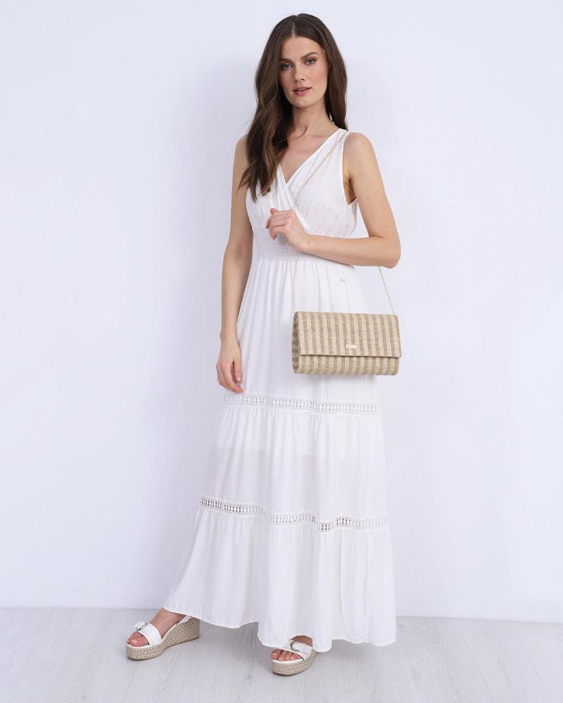 Μάξι φόρεμα άσπρο