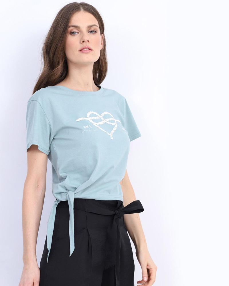 Light blue t-shirt blouse