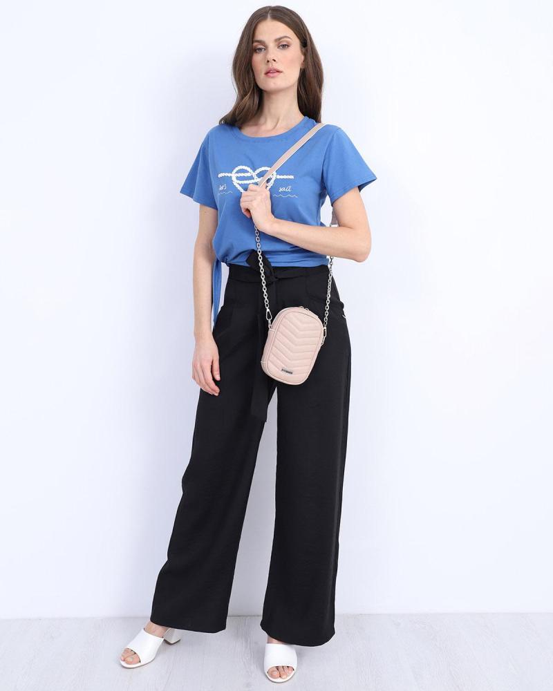 Blue t-shirt blouse
