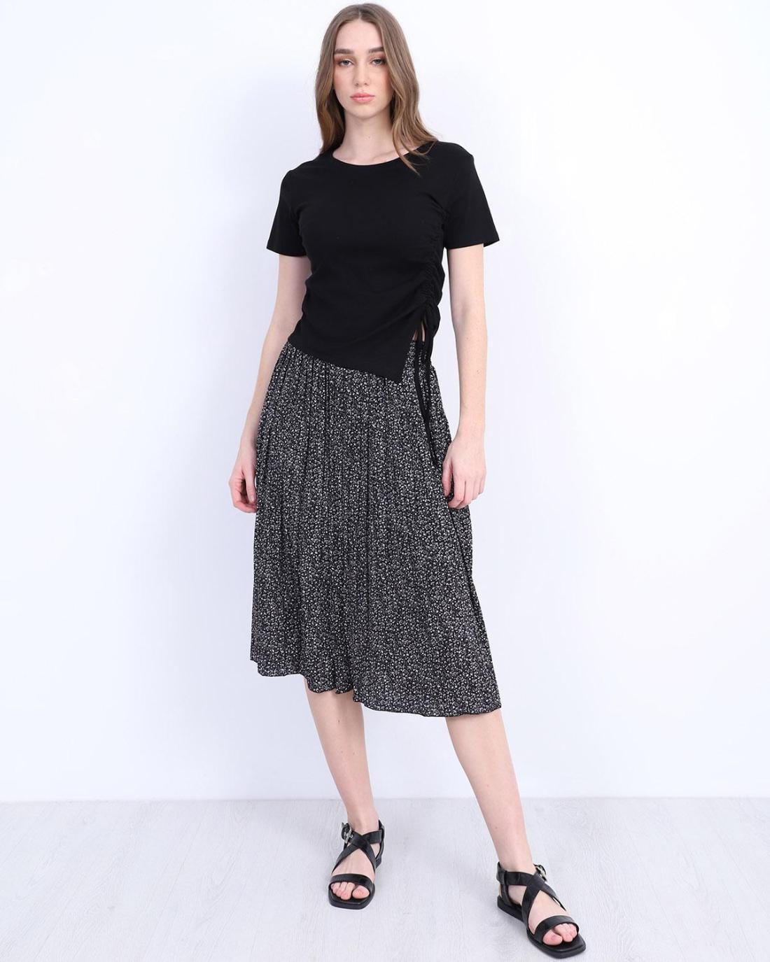Schwarze t-shirt bluse