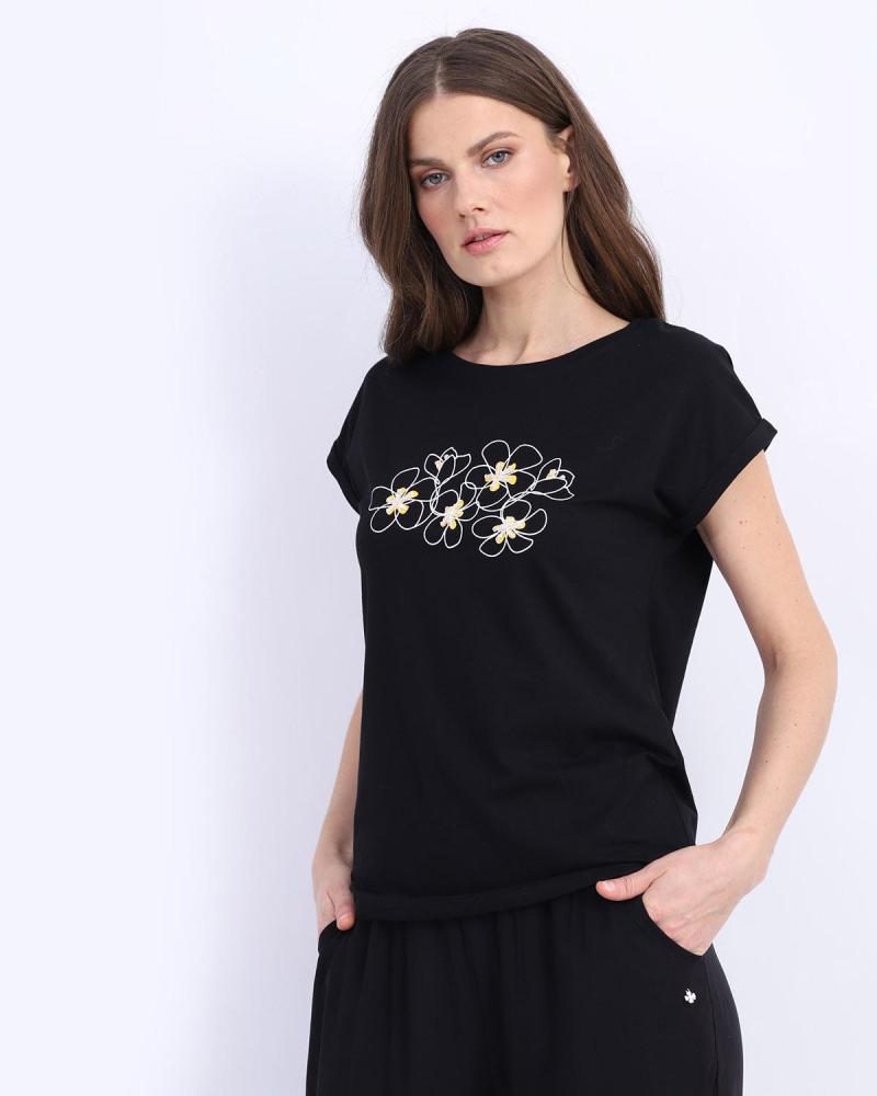 Black t-shirt blouse