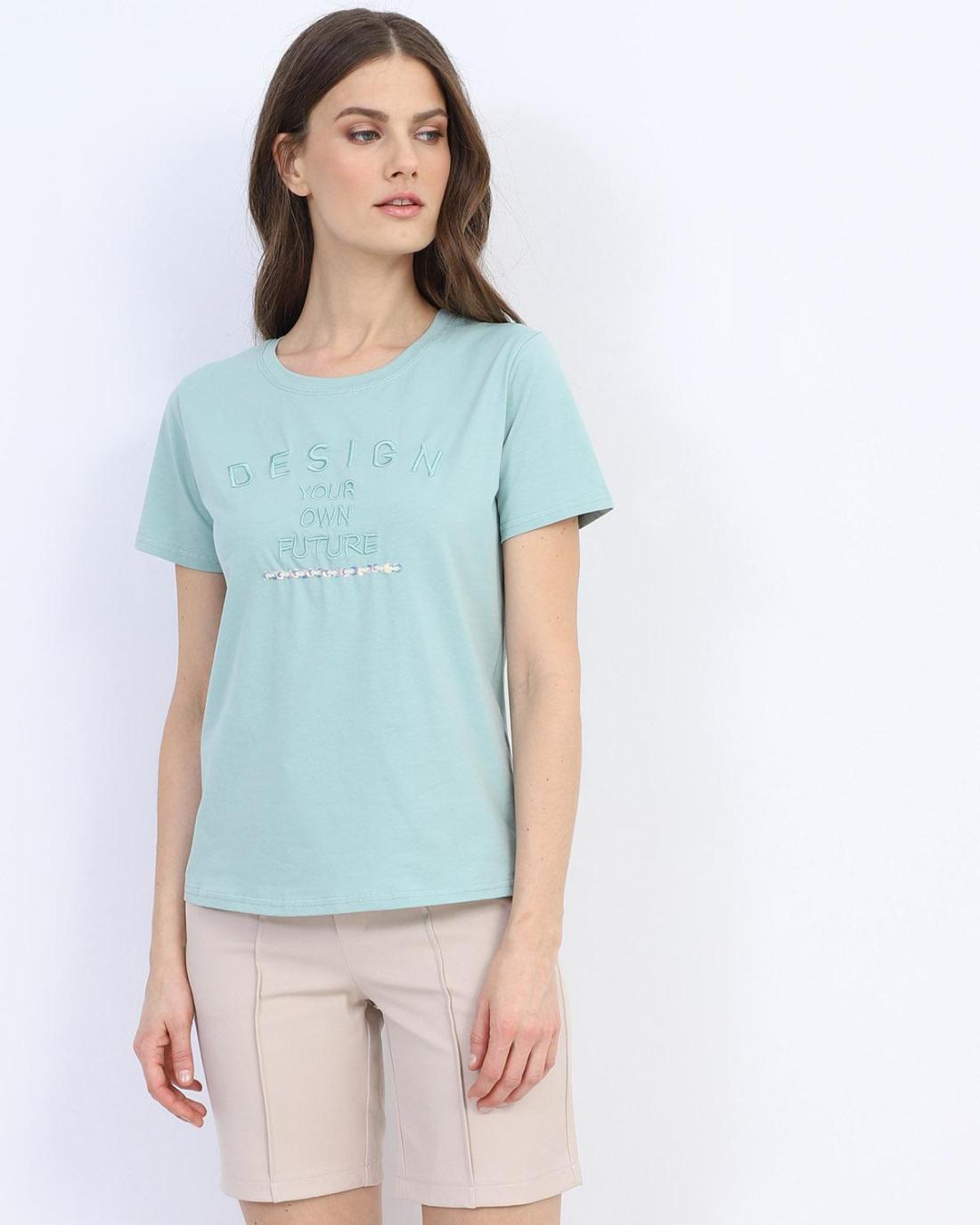 Grüne t-shirt bluse